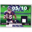 #/10 Brandon Marshall 2006 Leaf R&S Longevity Material Rookie Patch #266 Bears, Broncos RC