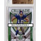 Pop 1 Steve Smith 2007 Leaf R&S Rookie Crusade Green RC-23 Giants #/100 BGS 9.5