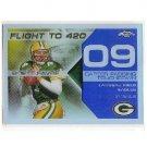 Brett Favre #/50 2007 Topps Chrome Blue Refractor Brett Favre Flight #BFC-BF9 Packers, Vikings