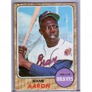 Hank Aaron 1968 Topps #110 Braves HOF