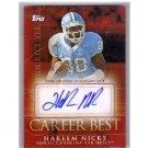 Hakeem Nicks 2009 Topps Career Best Autographs #CBA-HN Giants RC Colts