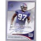 Mathias Kiwanuka 2006 SP Authentic Rookie Signatures Autograph #213 Giants RC