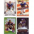 Percy Harvin 4-Card Rookie Lot 2009 Jets, Seahawks, Vikings Bills