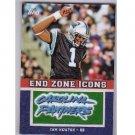 Cam Newton 2011 End Zone Icon Memorabilia Panthers RC