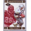 Adrian Peterson RC Tony Dorsett 2007 Co-Signers #48 Vikings Cowboys #/399
