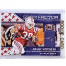 Danny Woodhead 2011 Threads Star Factor #5 Chargers Patriots RC