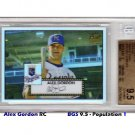 Alex Gordon RC Pop 1 2007 Topps 52 Chrome Refractors #14 Royals #/552 BGS 9.5 Pop 1
