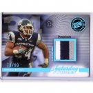 Donald Brown 2009 Press Pass Saturday Swatches Premium 3-Color Patch #SSW-DB Colts #/99