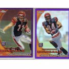 Bengals 2010 Topps Purple Refractor 2-Card RC Lot Gresham/Shipley