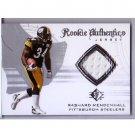 Rashard Mendenhall 2008 SP Authentic Rookie Threads RC #RA-20 Steelers, Cardinals