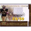 #/50 Robert Meachem 2007 Gridiron Gear Rookie Gridiron Gems #220 Saints
