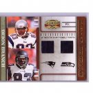 Deion Branch 2007 Gridiron Gear Player Timeline Jerseys #PT-25 Patriots Seahawks #/100