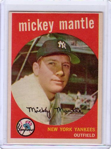 Mickey Mantle 1959 Topps #10 Yankees HOF