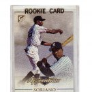 Alfonso Soriano 1999 Topps Gallery Apprentices RC #128 Yankees