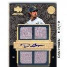 Dan Haren #/10 2007 UD Black Gold Materials Autograph #PR-DH Dodgers