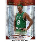 Rajon Rondo 2009-10 Studio Essence Proofs #11 Celtics #/199