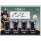 Emmanuel Sanders 2010 Topps Prime Autographed RC Relics Level 5 #LS-ES Broncos, Steelers