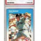 Tom Seaver 1987 Fleer Glossy #45 PSA 9 Mint Red Sox, Mets