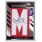 Justin Smoak Auto 2008 Razor Letterman Autographed Patch #35-M Blue Jays, Mariners, Rangers