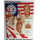 Hank Aaron, Appling, Ford 1989 Old Timers Baseball Classic Program w/ 55 Autographs