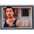 Manu Ginobili 2003-04 Fleer Platinum Locker Room Memorabilia #LRM-MG Spurs