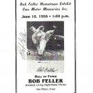 Bob Feller Signed Autographed 1995 Hometown Exhibit  Program Indians  HOF
