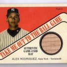 Alex Rodriguez 2004 Cracker Jack Take me Out to the Ball Game Bat Relic #TB-AR2 Yankees