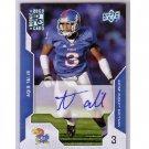 Aqib Talib 2008 Upper Deck Draft Edition Exclusives Autograph #7 RC  Broncos Patriots