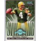 Brett Favre 1998 Leaf Rookies and Stars Standing Ovation #1 Packers, Vikings #/5000