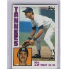 Don Mattingly 1984 Topps #8 RC Yankees, Dodgers