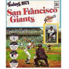 1971 Dell San Francisco Giants Official MLB Stamp Album 24 Player Stamps: Mays, McCovey, Perry