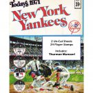 1971 Dell Todays New York Yankees Official MLB Stamp Album w/24 Player Stamps: Thurman Munson