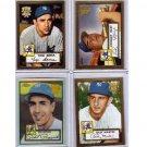 Yankees HOF 2002 Topps 1952 Reprints (Lot of 4)