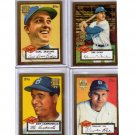 Dodgers 2002 Topps 1952 Reprints (Lot of 4) Hall of Fame