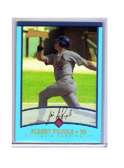Albert Pujols 2013 Bowman Blue Sapphire 1st Bowman Card RC Reprint Refractor #264 Angels Cardinals