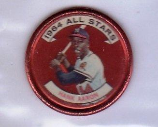 Hank Aaron 1964 Topps Coins All-Stars #149 Braves HOF