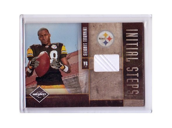 Emmanuel Sanders 2010 Panini Limited Initial Steps Shoe Relic #21 Broncos, Steelers #/80 RC