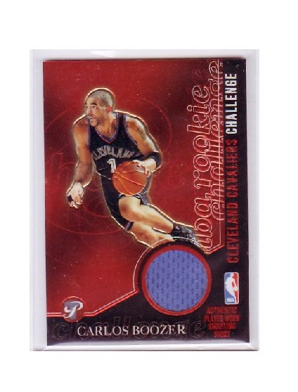 Carlos Boozer 2003-04 Topps Pristine Rookie Challenge Relic #PC-CB Lakers, Cavs