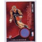 Carlos Boozer 2003-04 Topps Pristine Rookie Challenge Relic #PC-CB Lakers, Cavs