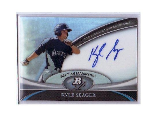 Kyle Seager 2011 Bowman Platinum Prospect Autographs #BPA-KS Mariners