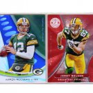 Aaron Rodgers Jordy Nelson (2) Card Lot Green Bay Packers