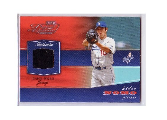 Hideo Nomo 2002 Playoff Piece of the Game Authentic Game-Used Jersey #POG-27 Dodgers