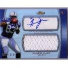 Dwayne Allen 2012 Topps Finest Autographed Player-worn Relic #AJR-DA Colts