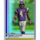 Brett Favre Refractor HOF 2009 Topps Finest Green Refractor #4 Packers, Vikings #/199
