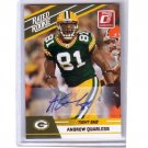 Andrew Quarless 2010 Donruss Rated Rookie Autograph #3 Packers