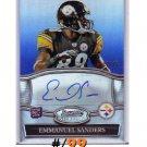 Emmanuel Sanders RC Auto 2010 Bowman Sterling Autograph Blue Refractor #BSA-ES #/99 Broncos Steelers