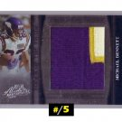 Michael Bennett #/5 2006 Absolute Tools of Trade Prime Jersey Patch  #TOT-101  Vikings