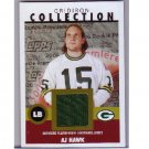 A.J. Hawk RC 2006 Topps Heritage Gridiron Collection Throwback Jersey #GC-AH Packers