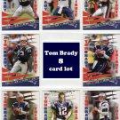 Tom Brady (8) Insert Lot2010 Topps Tom Brady Tribute 8-card lot #TBT Patriots