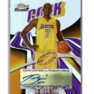 Brian Cook 2003 Finest Autographed Refractor RC #146 Lakers #/250